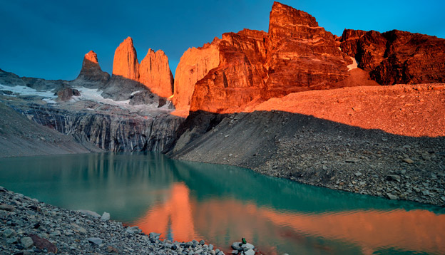 Granite towers of Torres del Paine, Chile. Photo Credit: Shutterstock.