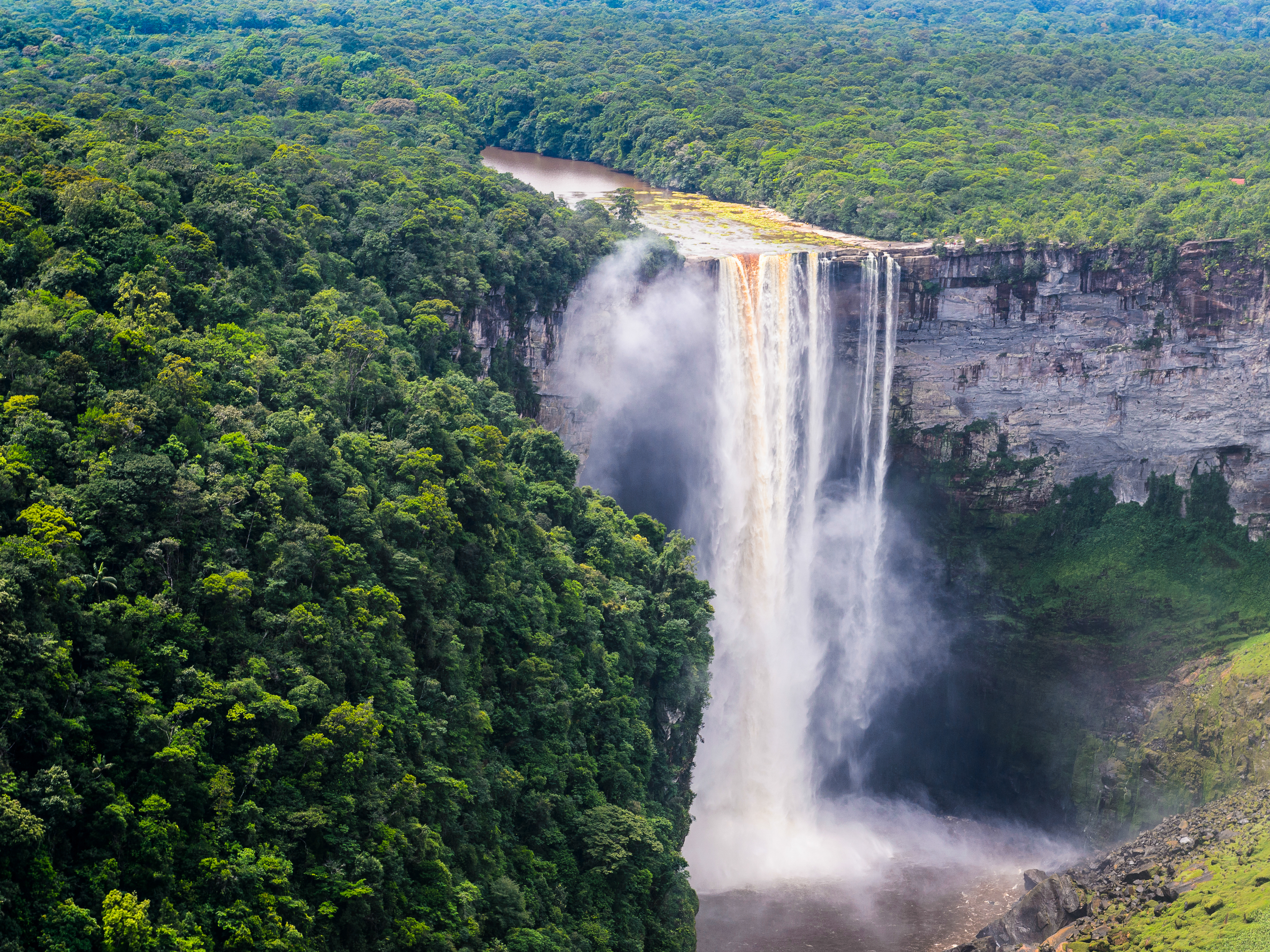 Kaieteur Falls, a waterfall on the Potaro River in central Essequibo Territory, Guyana, South America. Photo Credit: Shutterstock