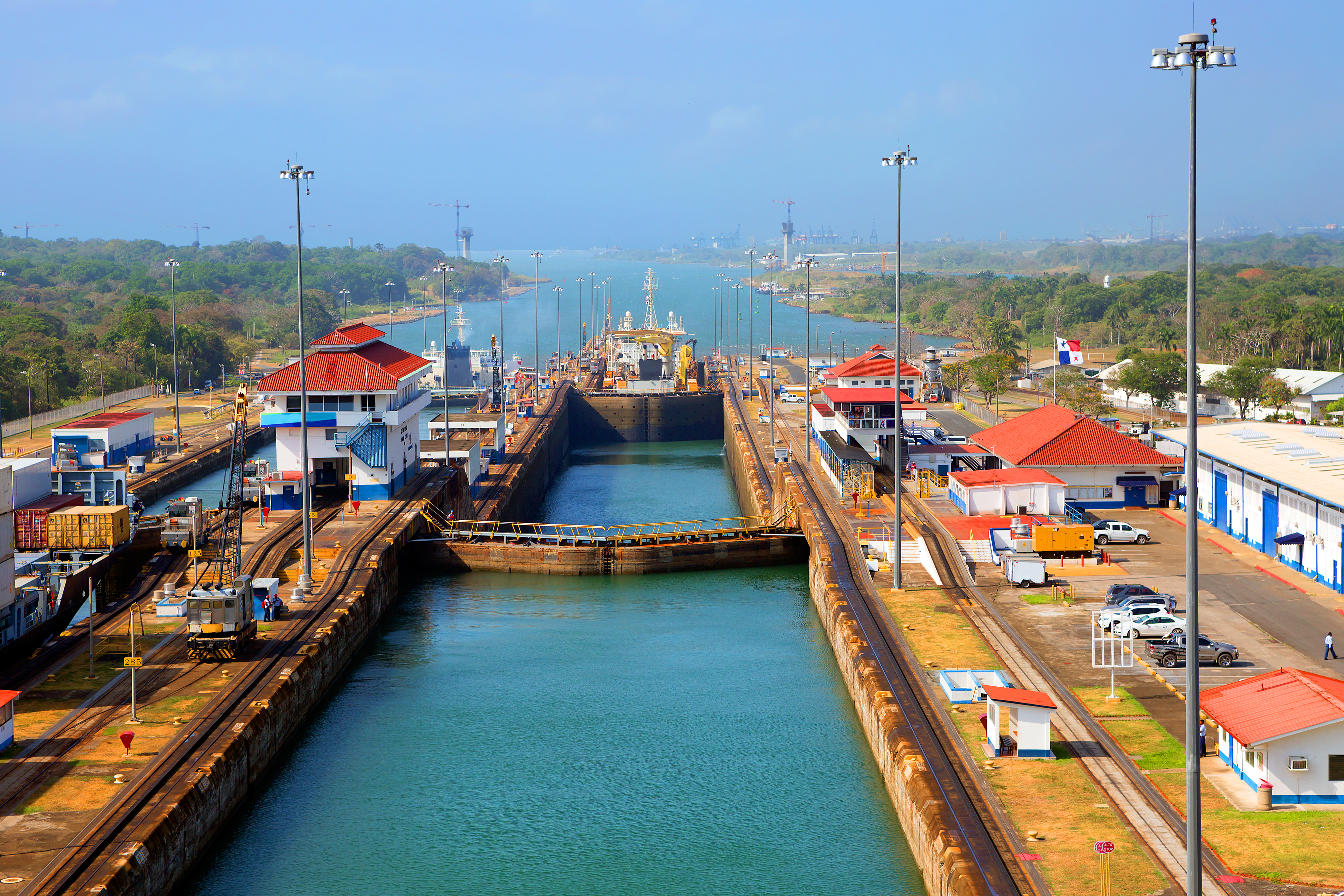The second lock of the Panama canal from the Pacific ocean. Photo Credit: Shutterstock