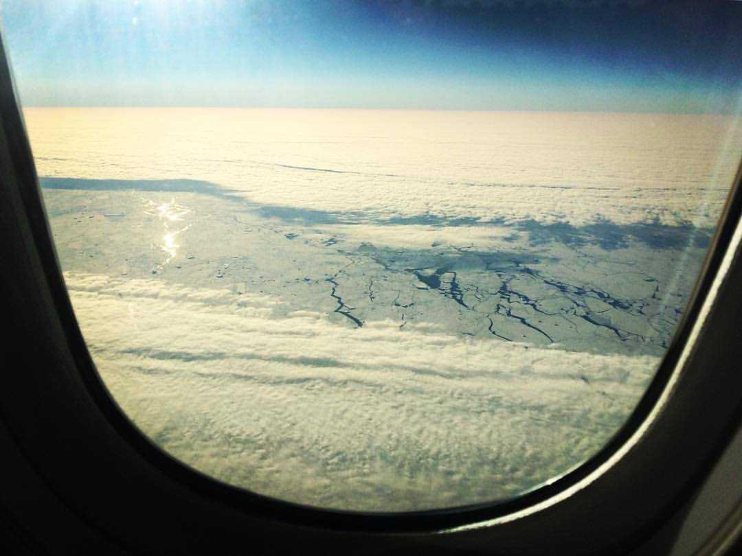 View on Antarctica on the flight Sydney - Santiago. Photo Credit: Fran Armitage