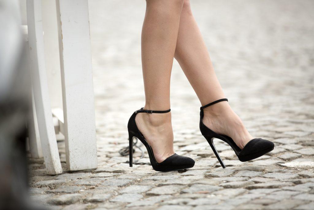 High Heels On Street
