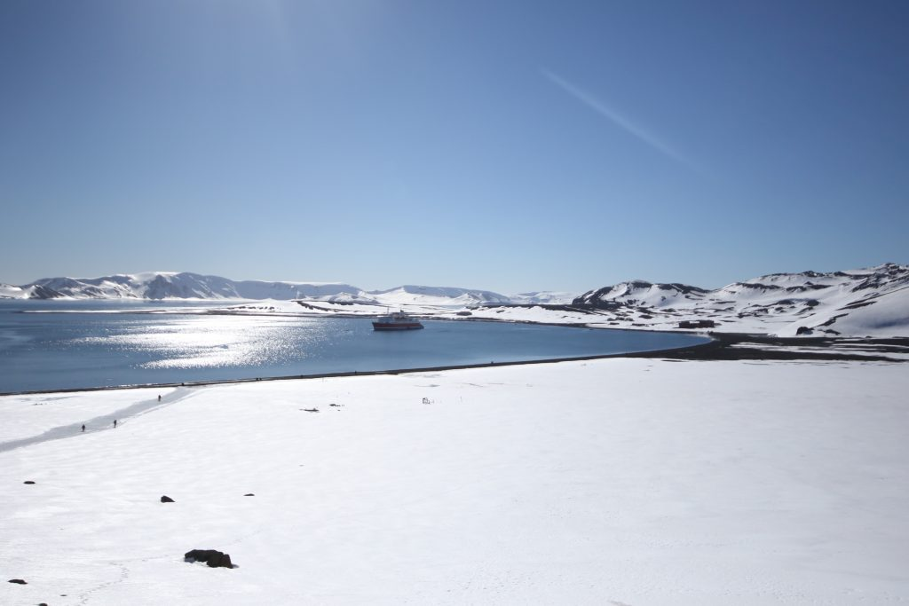 Spectacular views of Deception Island in November