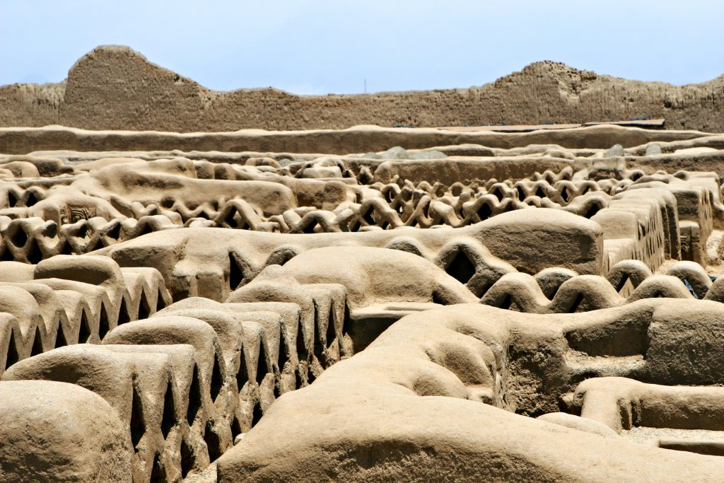 Human Sacrifice Site - Chan Chan ruins in modern day Peru is the oldest known Pre-Colombian city in all of South America