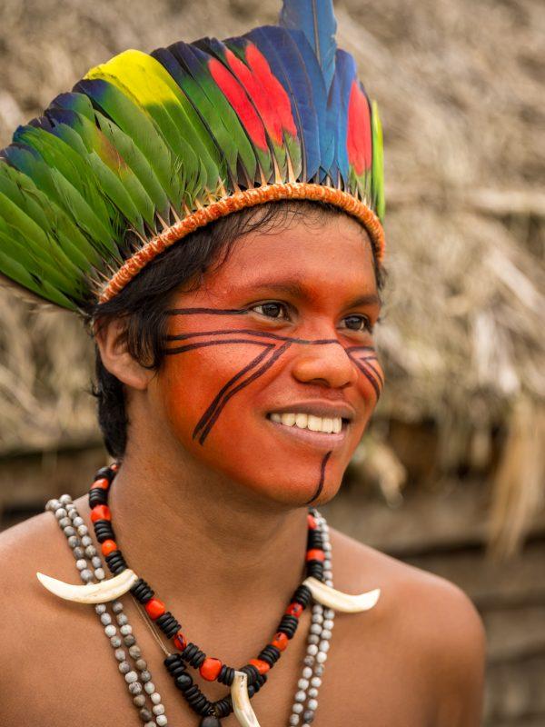 Native Brazilian with facial accessories