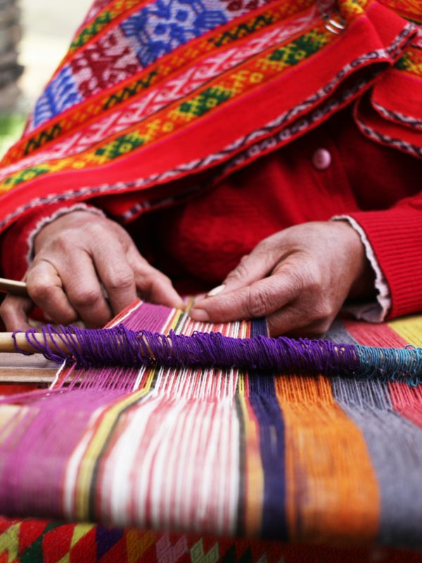 Close up of weaving in Peru Credit: Shutter stock