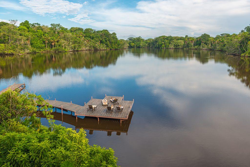 Pier on Amazon River