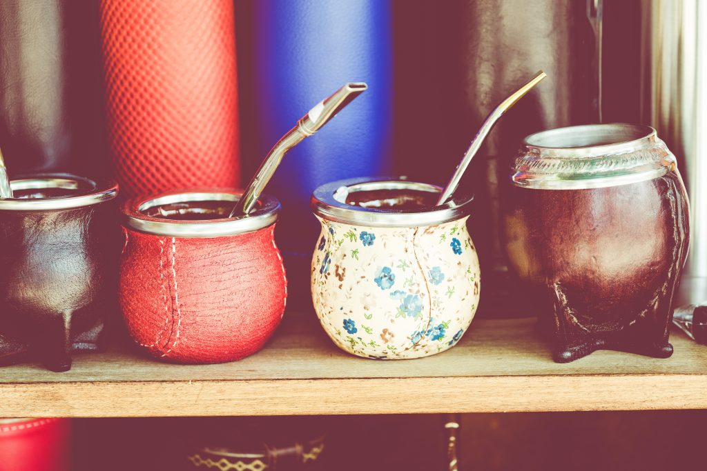 Mate gourds for sale as popular souvenirs from Argentina and Uruguay. credit Shutterstock