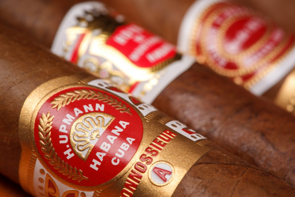 Ciudad de Mexico, Mexico - August 1, 2015: Cuban Cigars. All cigar production in Cuba is controlled by the Cuban government, and each brand may be rolled in several different factories in Cuba. credit shutterstock