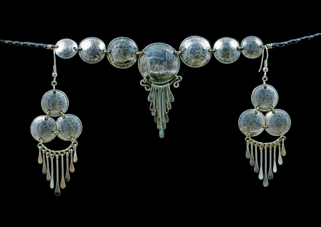 Beautiful old silver necklace credit shutterstock