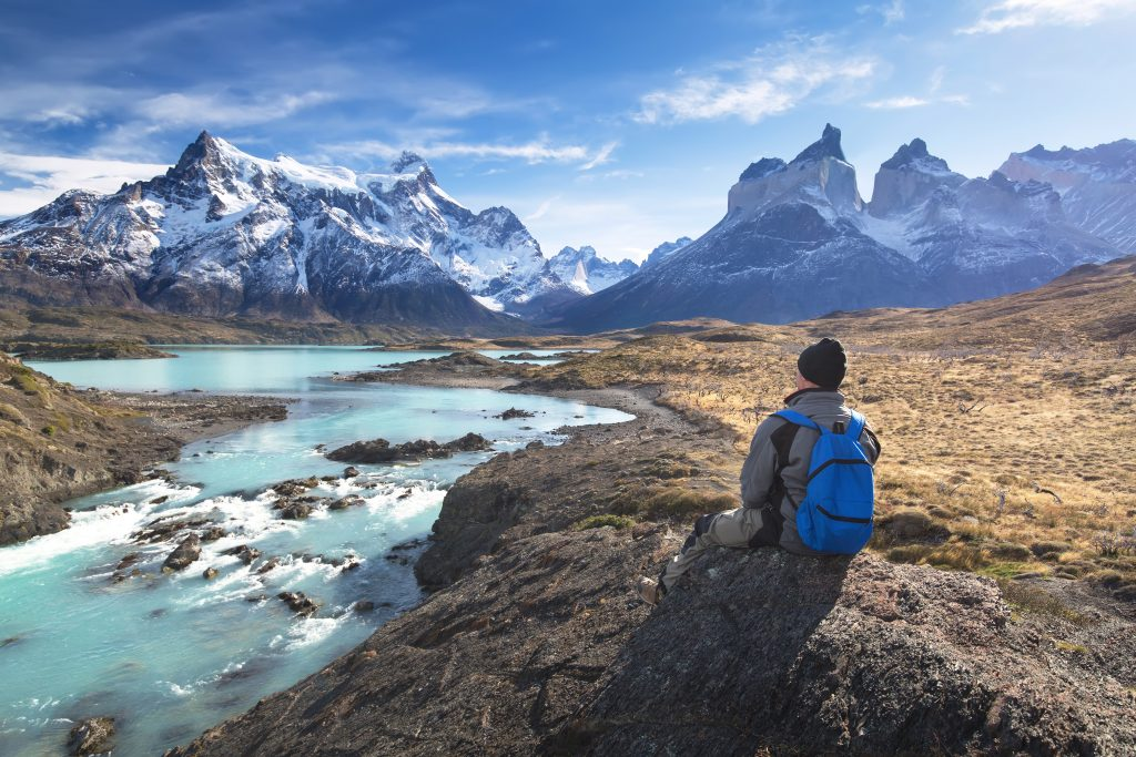 Hiker in a national park Torres del Paine, Patagonia, Chile Credit Shutterstock