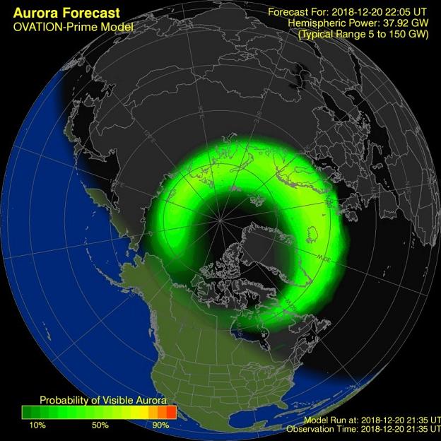 Northern Lights Forecast Simulation.
