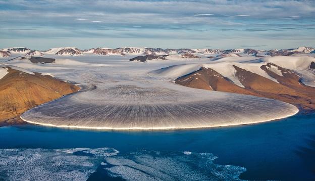 Elephant foot glacier, North Greenland.
