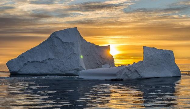 Sunset in Antarctica.