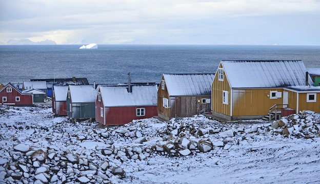 Kulusuk village, east Greenland.