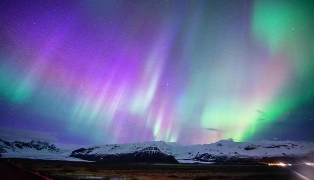 Aurora display in Skaftafell, Iceland.