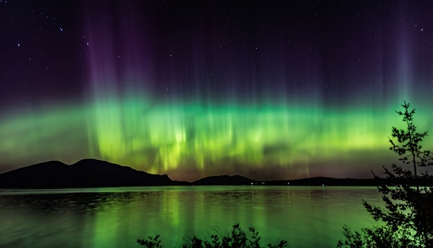 Northern Lights Panorama View.