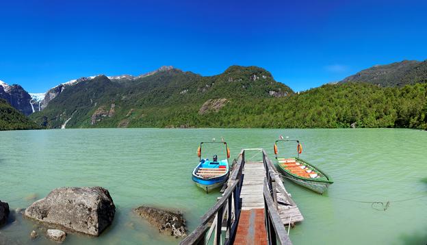 Lake in Queulat National Park, Patagonia.