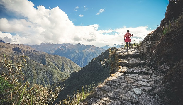Hiker on the famous Inca trail of Peru. Photo Credit: Shutterstock