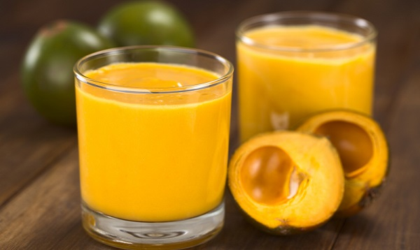 Milkshake made of the Peruvian fruit called Lucuma. Photo Credit: Shutterstock