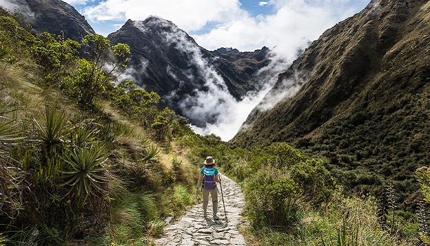 Woman on the Inca trail. Photo Credit: Shutterstock