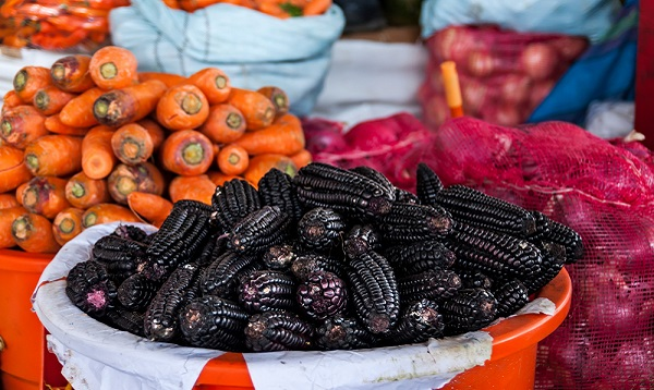 Peruvian black corn. Photo Credit: Shutterstock