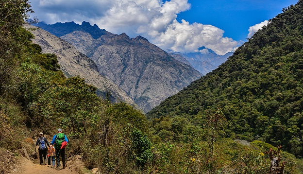 Inca trail salkantay green valley. Photo Credit: Shutterstock