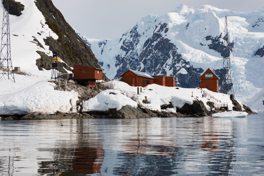 View of the Almirante Brown Station, Antartica