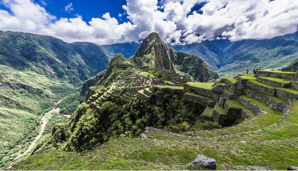Machu Picchu is surrounded by mountains