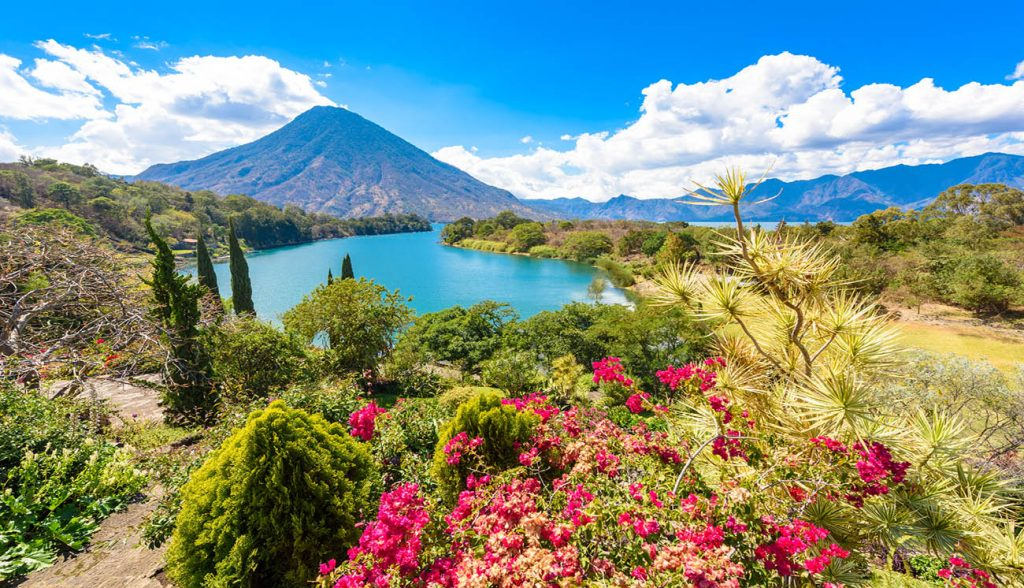 Lake Atitlan on the San Pedro Highlands, Guatemala