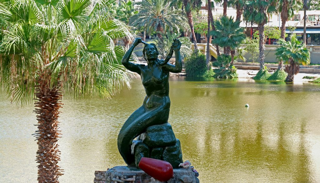 Mermaid Statue of Huaca China, Beautiful Princess in the Legend of this Oasis Town Who Gave Birth to the Lagoon, Huacachina