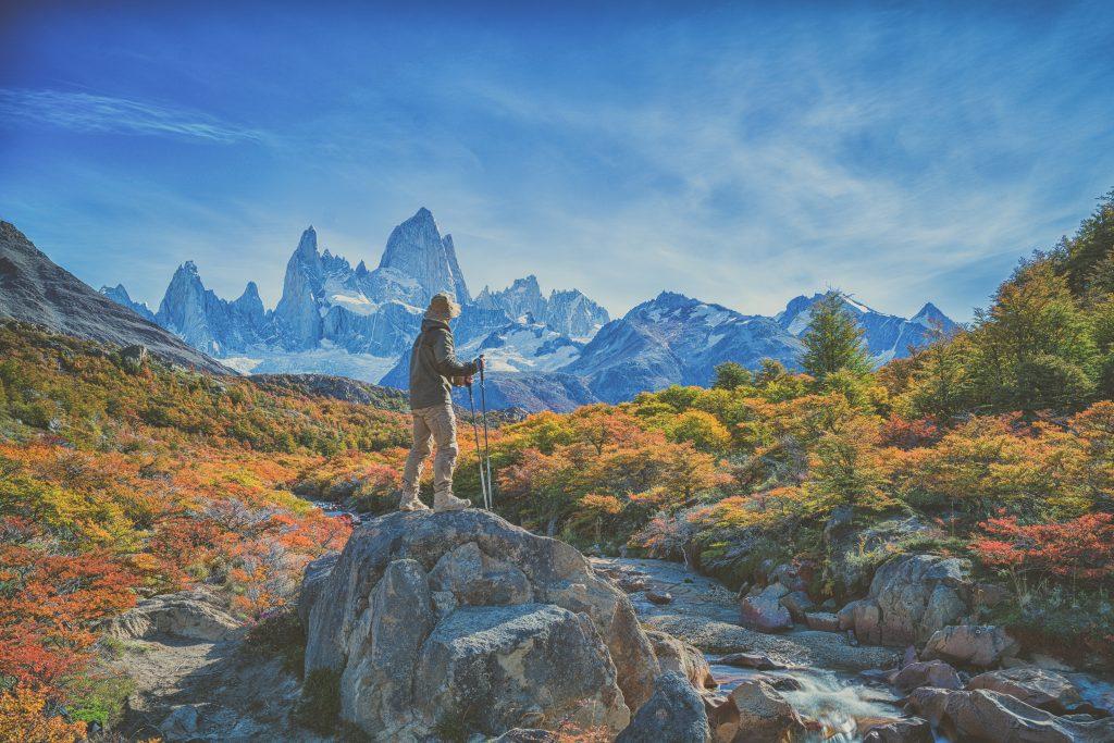 Wonderful view of Fitz Roy mountain, Patagonia, El Chalten