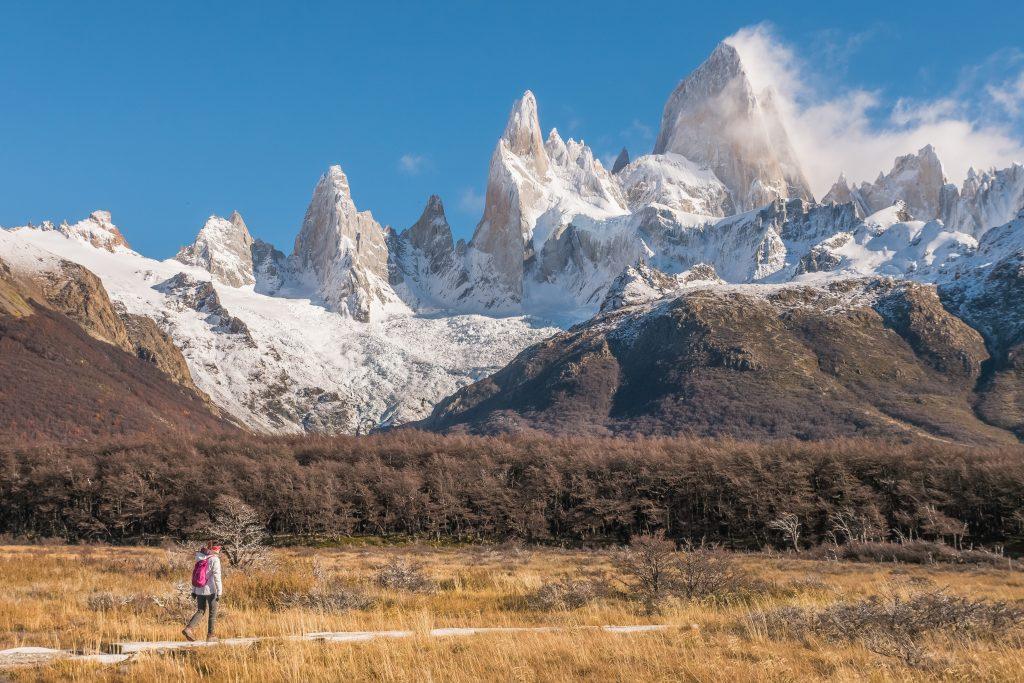 Hiking Laguna de Los Tres Trail, Patagonia, El Chalten