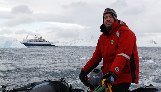 Greg Carter in Antarctica, circa 2015
