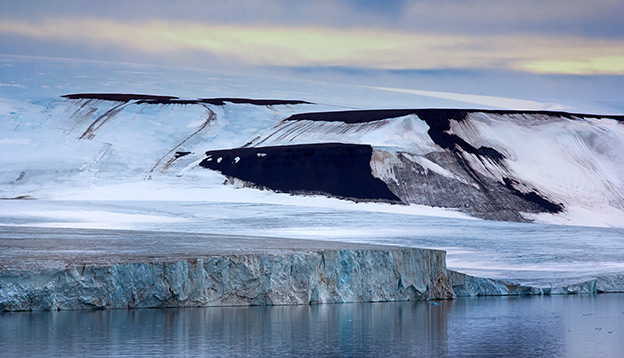 Franz Josef Land - glaciers in Strait of Booth and American Strait