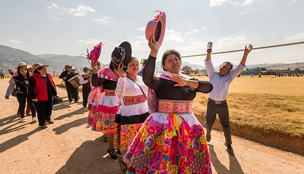 The traditional clothes of Huancayo, Peru.