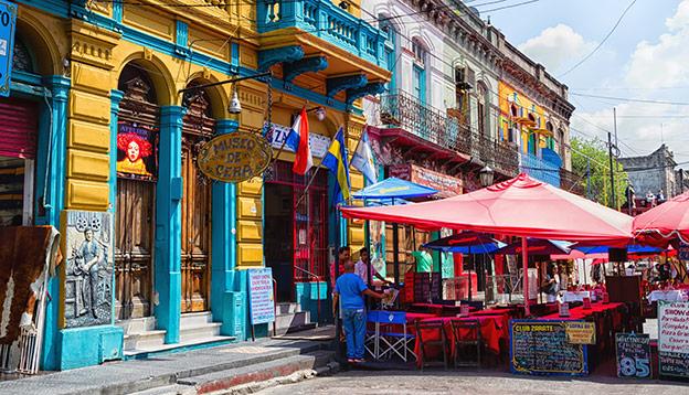 The neighbourhood of La Boca in Buenos Aires, Argentina.
