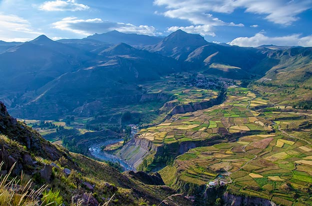 Landscape of the Colca Canyon