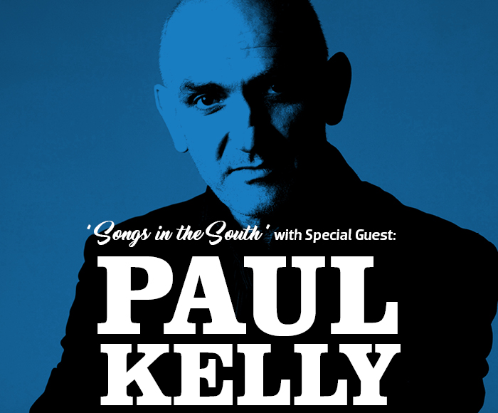 Promotional poster for Songs in the South with Paul Kelly