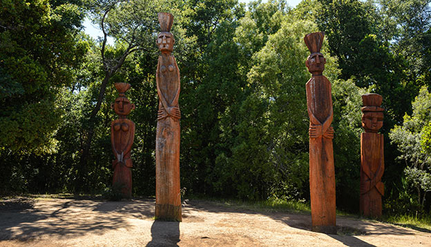 Slow Travel - Chemamull -  Mapuche sculptures