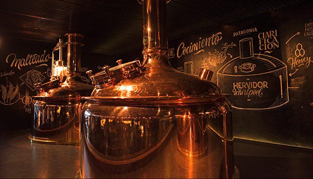 Patagonia Food - Kettle drums inside a Patagonian brewery