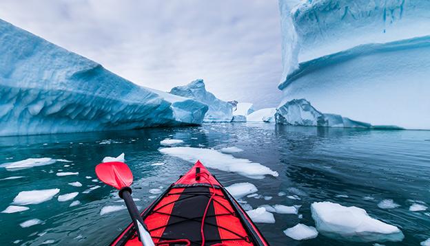 Kayaking, Antarctic Peninsula.