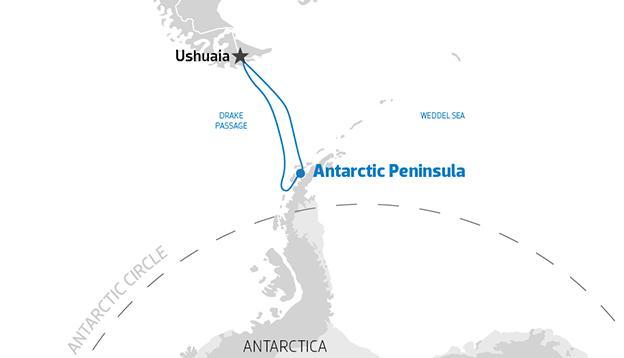 Map of Antarctic Peninsula