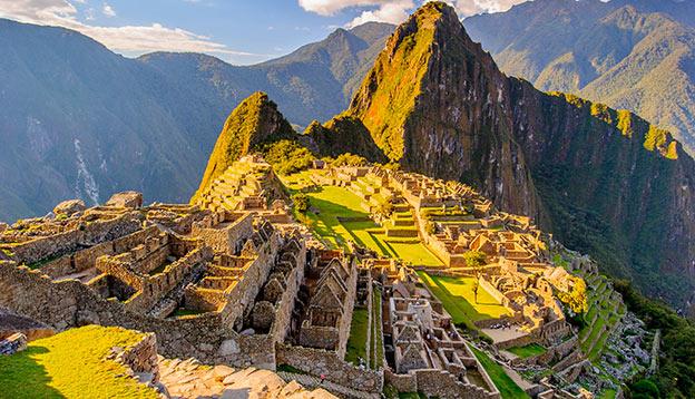 the ancient Inca City of Machu Picchu