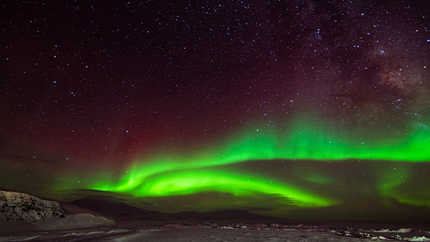The Aurora Australis (Southern Lights) witnessed from Antarctica