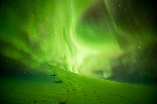 Aurora Australis as viewed on a Southern Lights flight