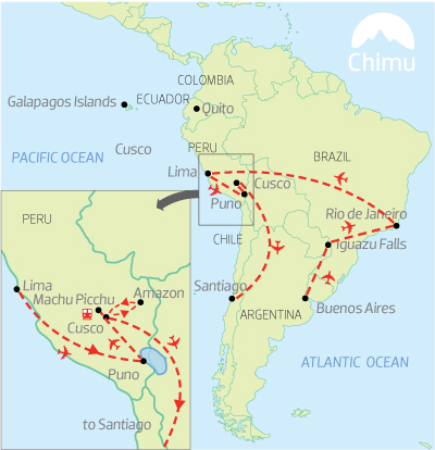 South America Circle  South America Tours  Travel